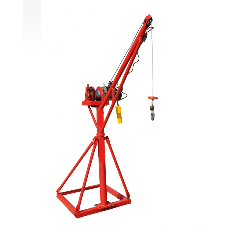 Electric mini construction crane